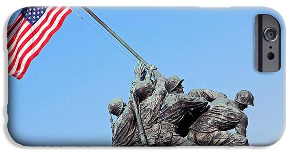 Cora Wandel iPhone Cases - Raising The American Flag At Iwo Jima iPhone Case by Cora Wandel