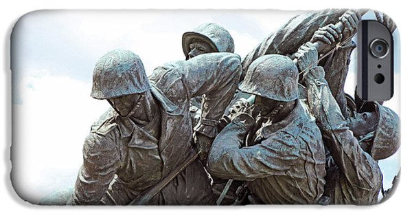 D.c. iPhone Cases - Raising The American Flag At Iwo Jima -- Do You See All Six Men? iPhone Case by Cora Wandel