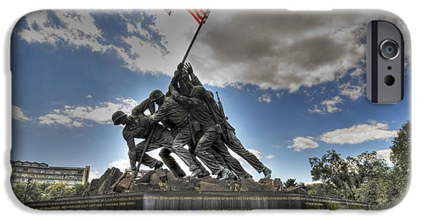 Michael iPhone Cases - Raising the Flag on Suribachi iPhone Case by David Bearden