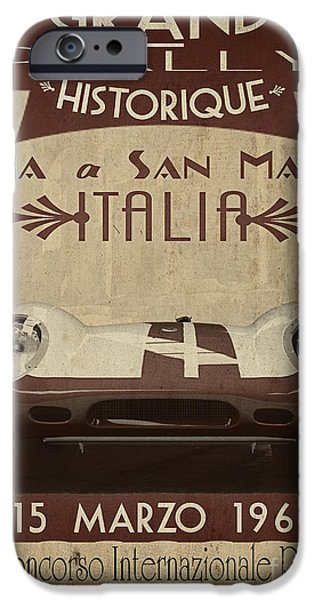 Rally Italia iPhone Case by Cinema Photography