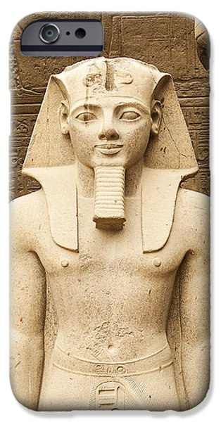 Statue Portrait iPhone Cases - Rameses II At Luxor Temple, Egypt iPhone Case by David Henderson