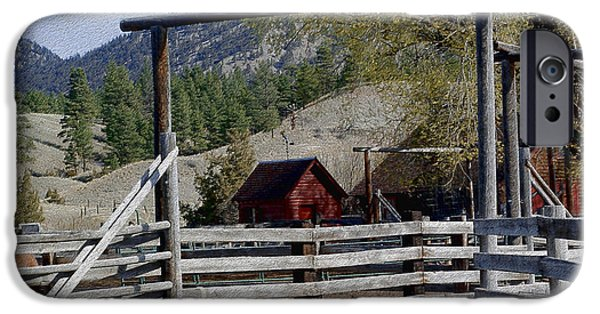 Shed Mixed Media iPhone Cases - Ranch Fencing and Tool Shed iPhone Case by Kae Cheatham