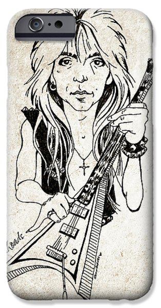 Randy iPhone Cases - Randy Rhoads iPhone Case by Gary Bodnar