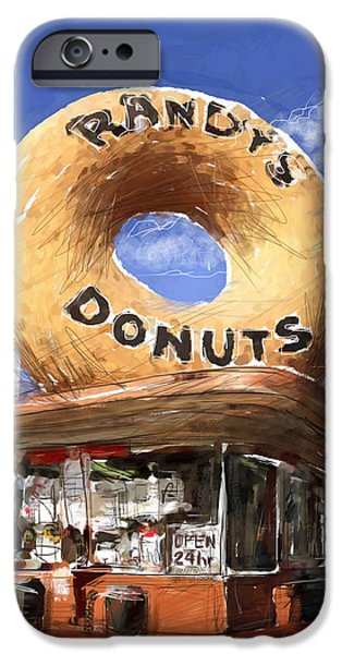 Randy iPhone Cases - Randys Donuts iPhone Case by Russell Pierce