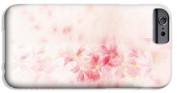 Botanic Illustration iPhone Cases - Rangoon creeper flower watercolor illustration. iPhone Case by Noppanun Kunjai