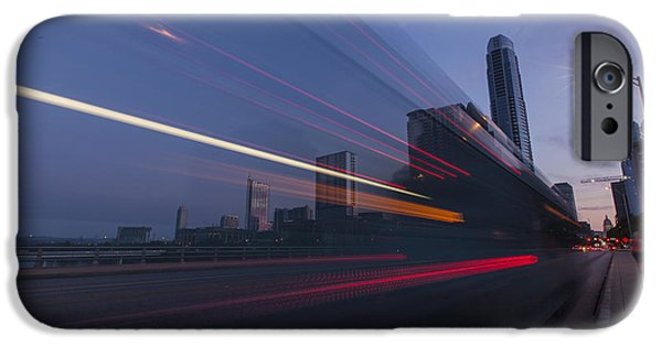 Morning iPhone Cases - Rapid Transit iPhone Case by Van Sutherland