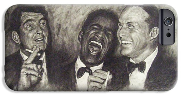 Frank Sinatra iPhone Cases - Rat Pack iPhone Case by Cynthia Campbell