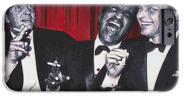 Ludzska iPhone Cases - Rat Pack iPhone Case by Luis Ludzska