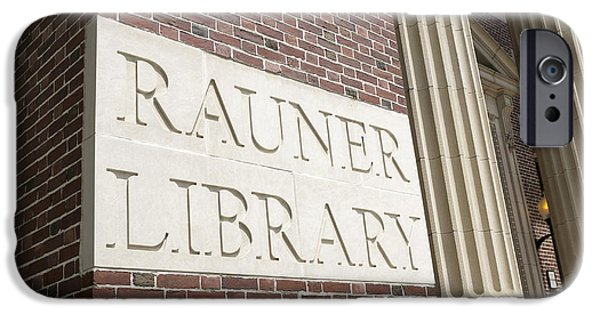 Brick Schools iPhone Cases - Rauner Library Dartmouth College iPhone Case by Edward Fielding