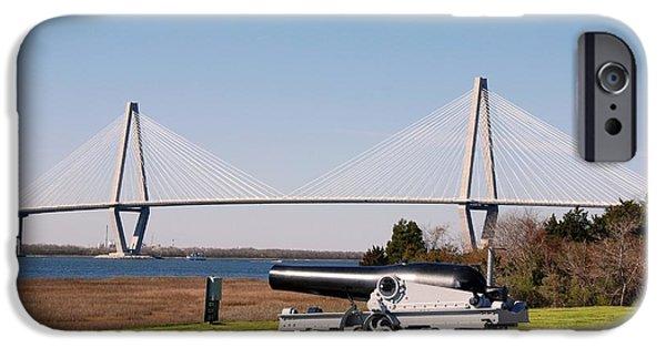 Recently Sold -  - Yorktown iPhone Cases - Ravanel Bridge from The Patriot Point iPhone Case by Susanne Van Hulst