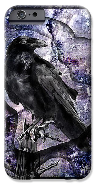 Torn iPhone Cases - Raven iPhone Case by Tim Thomas