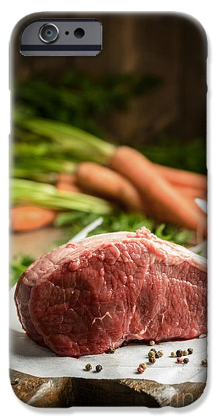 Joints iPhone Cases - Raw Beef With Carrots iPhone Case by Amanda And Christopher Elwell