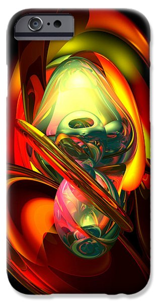 Fury iPhone Cases - Raw Fury Abstract iPhone Case by Alexander Butler