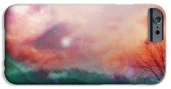 Energy Art Movement iPhone Cases - Ray Of Hope iPhone Case by Linda Sannuti