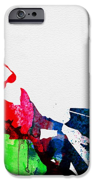 Rays iPhone Cases - Ray Watercolor iPhone Case by Naxart Studio
