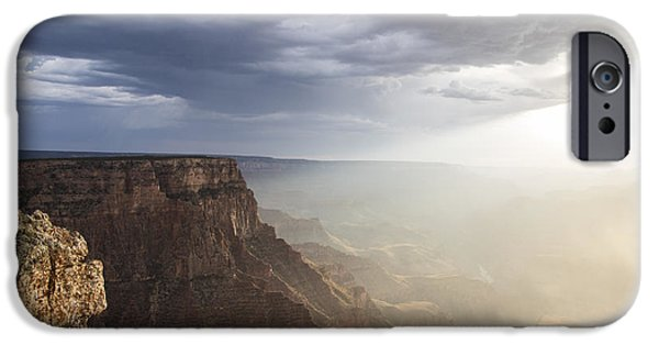 Recently Sold -  - Grand Canyon iPhone Cases - Rays on the Grand Canyon  iPhone Case by John McGraw