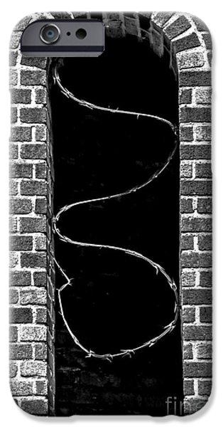 Makeshift iPhone Cases - Razor Wire Window iPhone Case by James Aiken