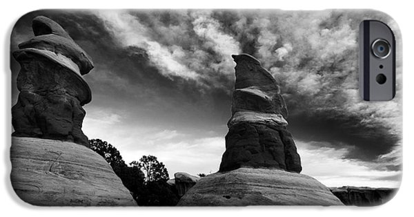 Red Rock iPhone Cases - Reaching for the Clouds iPhone Case by Mike Dawson