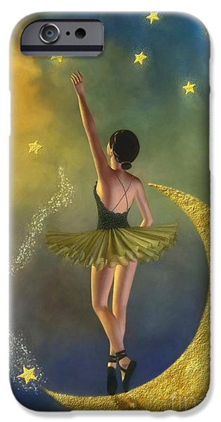 Ballerina Artwork iPhone Cases - Reaching For The Stars - Ballerina iPhone Case by AnaCB Studio