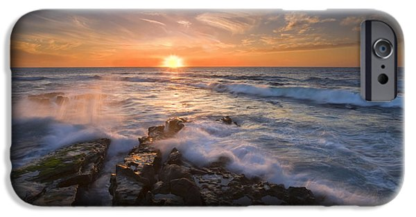 Sunset iPhone Cases - Reaching for the Sun iPhone Case by Mike  Dawson