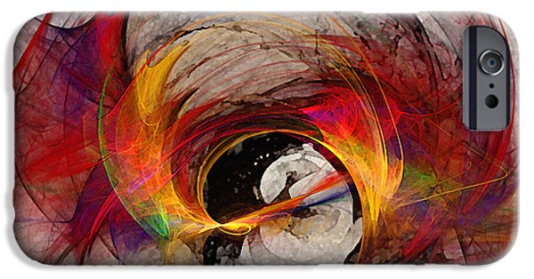 Contemplative iPhone Cases - Reaction Abstract Art iPhone Case by Karin Kuhlmann