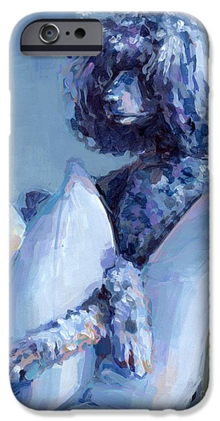 Puppies iPhone Cases - Ready For Her Closeup iPhone Case by Kimberly Santini