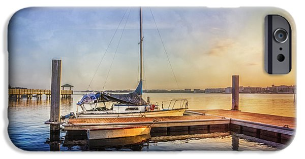Boats At The Dock iPhone Cases - Ready for Sailing iPhone Case by Debra and Dave Vanderlaan