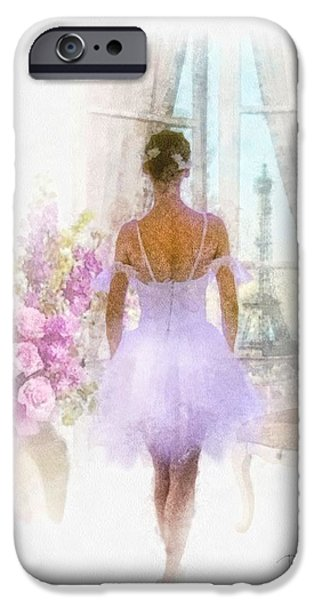 Dance Ballet Roses iPhone Cases - Ready iPhone Case by Mo T