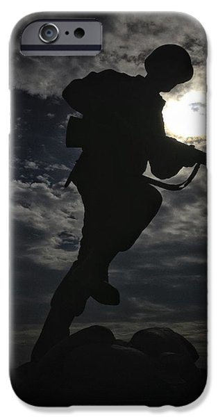 Statue Portrait iPhone Cases - Ready Night or Day iPhone Case by Buck Buchanan
