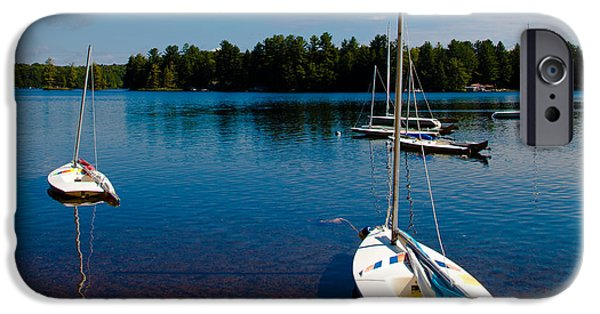 David iPhone Cases - Ready to Sail on White Lake iPhone Case by David Patterson
