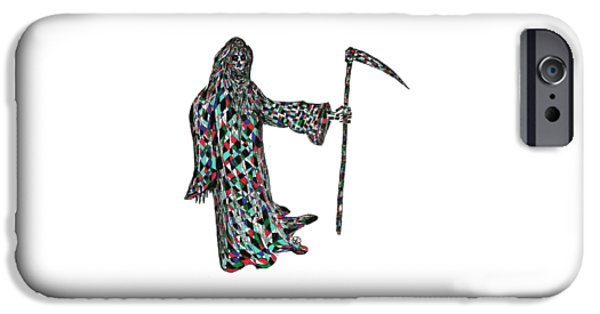 Abstract Digital Drawings iPhone Cases - Reaper iPhone Case by AR Teeter