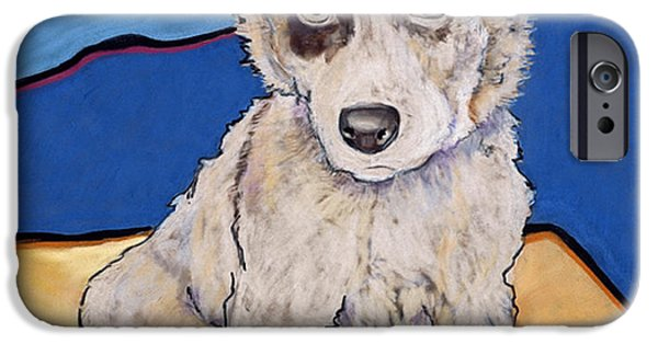 Puppy Pastels iPhone Cases - Reba Rae iPhone Case by Pat Saunders-White