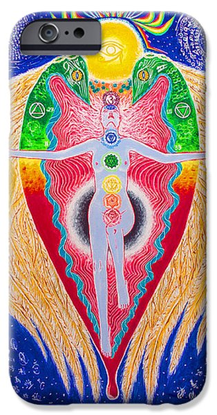 Serpent iPhone Cases - Rebirth of the Magician iPhone Case by Paul Hanson
