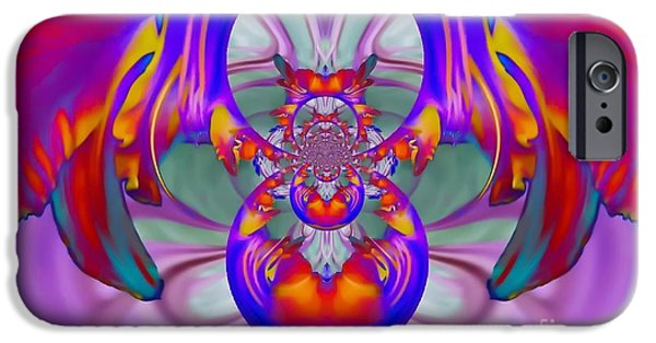 Abstract Digital iPhone Cases - Rebirth iPhone Case by Valerie Beth