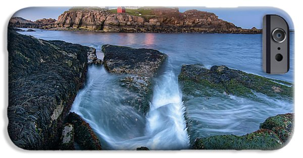 Nubble Lighthouse iPhone Cases - Receding iPhone Case by Scott Thorp
