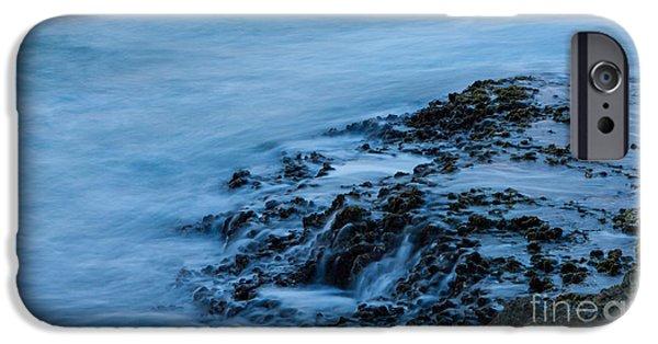 Ocean Sunset iPhone Cases - Receding Water iPhone Case by Digital Kulprits
