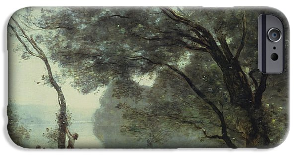 1796 iPhone Cases - Recollections of Mortefontaine iPhone Case by Jean Baptiste Corot