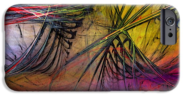 Contemporary Abstract iPhone Cases - Recreation iPhone Case by Karin Kuhlmann
