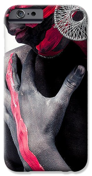 Model iPhone Cases - Red and black iPhone Case by Ceaser Valentine