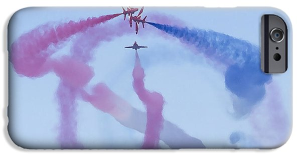 Transportation Ceramics iPhone Cases - Red Arrows Art 1 iPhone Case by Roy Crowther