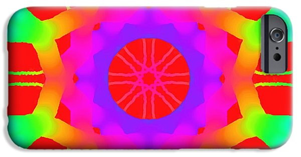 Bed Spread iPhone Cases - Red Ball  iPhone Case by Floyd Snyder