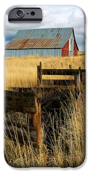 Old Barn iPhone Cases - Red Barn 2 iPhone Case by Storm Smith