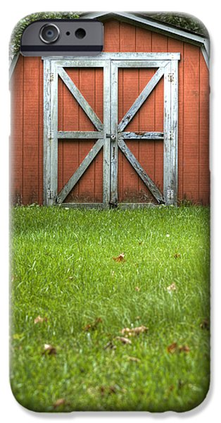 Barns iPhone Cases - Red Barn iPhone Case by Dustin K Ryan