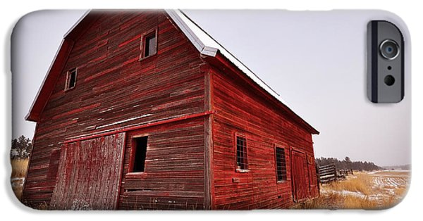 Old Barn iPhone Cases - Red Barn iPhone Case by Jedediah Hohf