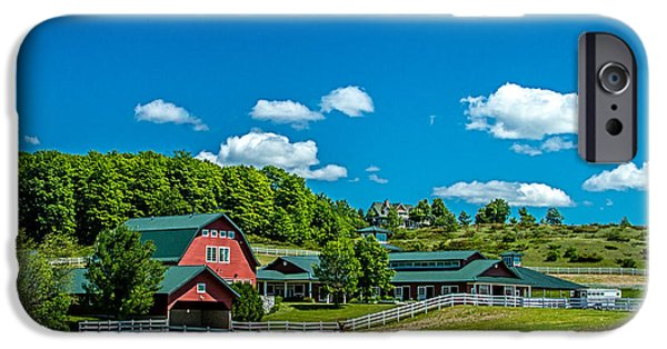 Bill Gallagher iPhone Cases - Red Barn On Hoyt Road iPhone Case by Bill Gallagher