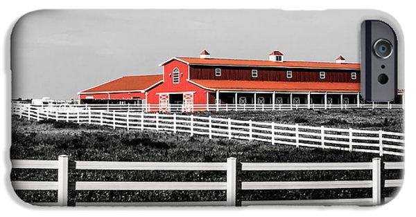 Recently Sold -  - Old Barns iPhone Cases - Red Barn iPhone Case by Parker Cunningham