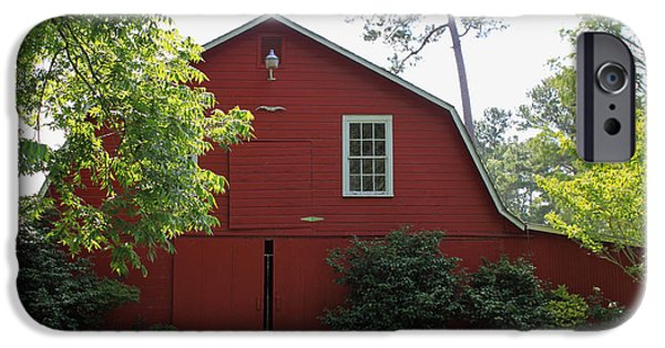 Barn Poster Photographs iPhone Cases - Red Barn iPhone Case by Suzanne Gaff
