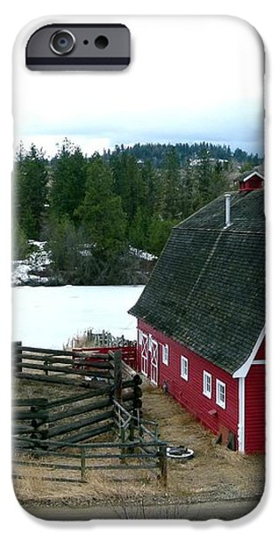Red Barn iPhone Case by Will Borden