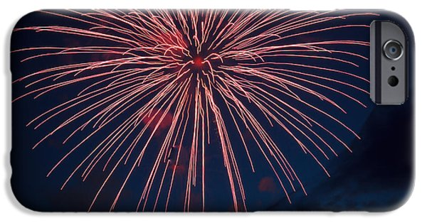 4th July Photographs iPhone Cases - Red Blast iPhone Case by Robert Bales