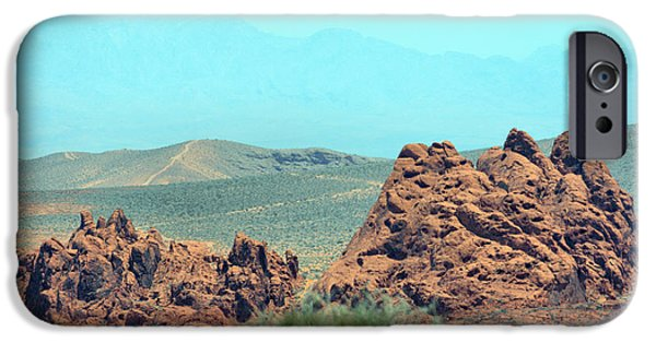 Red Rock Tapestries - Textiles iPhone Cases - Red Boulders iPhone Case by Edna Weber